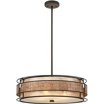 Large Drum Pendant Lighting Quoizel MC8420CRC Laguna Large Drum Pendant 4 Light Copper Lighting