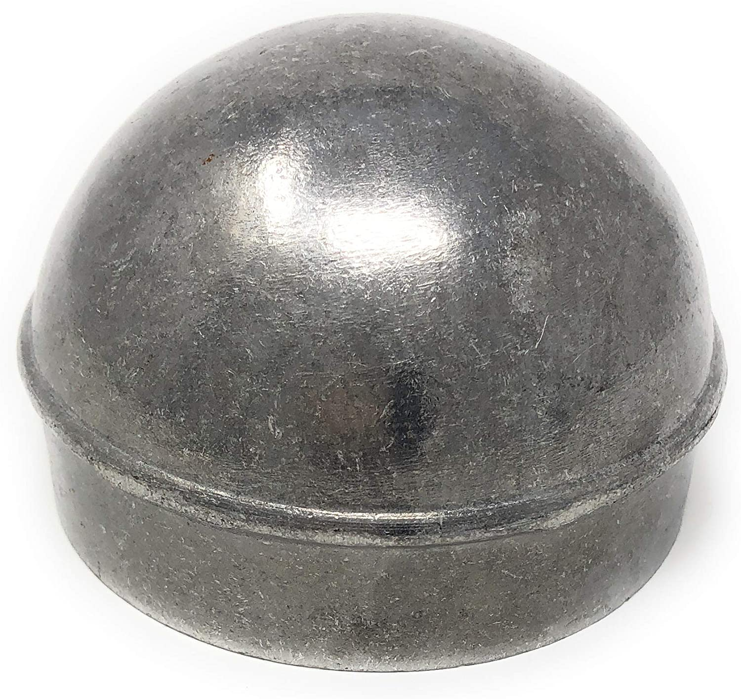 """domed steel weld on 2-7//8/"""" ODPost Cap Round Metal Fence Pipe caps"""
