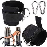 Fentar 2 stuks verstelbare enkelbanden voor kabelmachine, comfortabele gym enkelriem, dubbele D-ring enkelband, gevoerde…