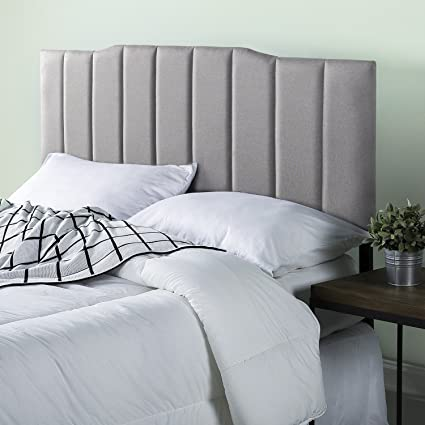 headboard button grey in nail skyline furniture light velvet buttoned