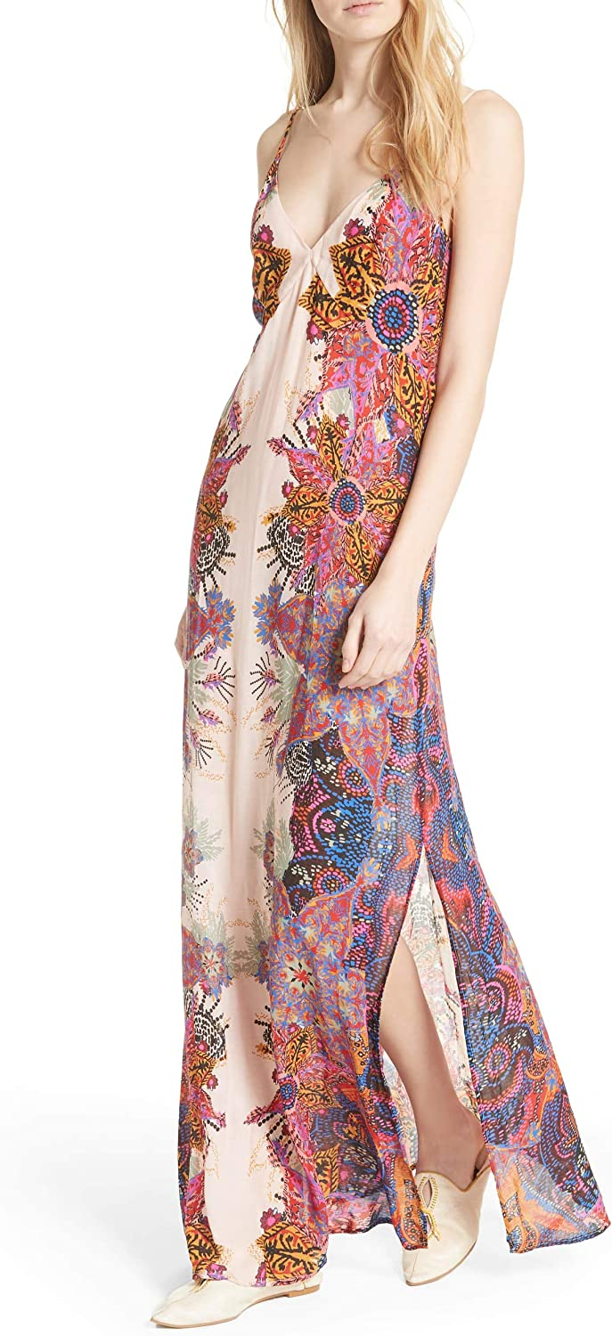 Free People Wildflower Printed Maxi Slip Dress
