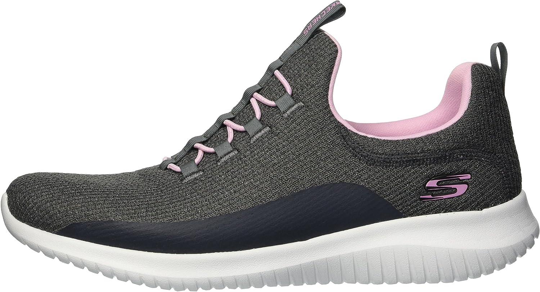 Skechers Ultra Flex, Zapatillas sin Cordones Niñas: Amazon.es: Zapatos y complementos