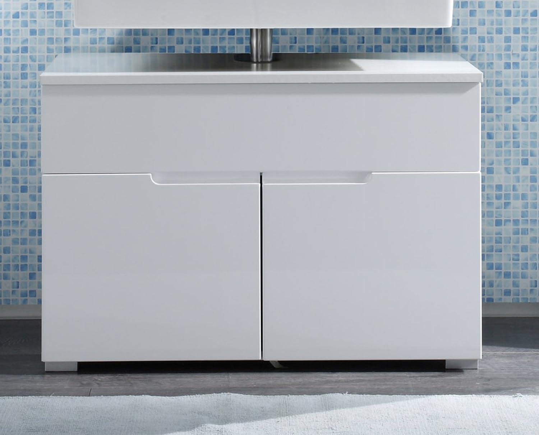 Waschbeckenunterschrank stehend  172431 Waschbeckenunterschrank Weiss HG: Amazon.de: Küche & Haushalt