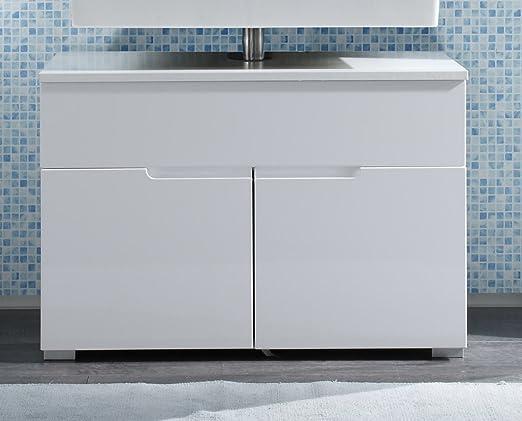 172431 Waschbeckenunterschrank Weiss HG: Amazon.de: Küche & Haushalt | {Waschbeckenunterschrank stehend mit schubladen 16}