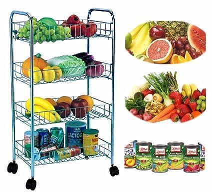 4 niveles carrito de cocina Almacenamiento de frutas ...