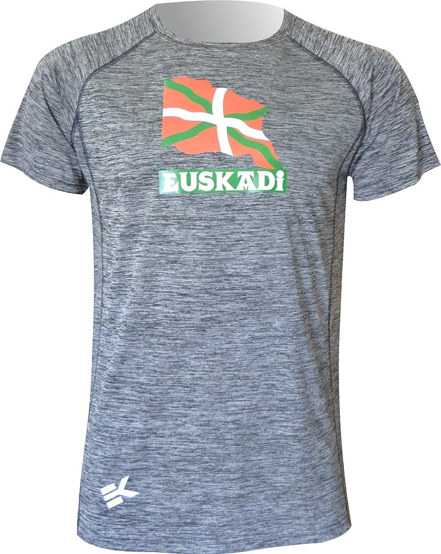EKEKO SPORT Maglietta Modello EUSKADI Maglietta a Maniche Corte Crossfit e Sport in Generale. Fitness Corsa