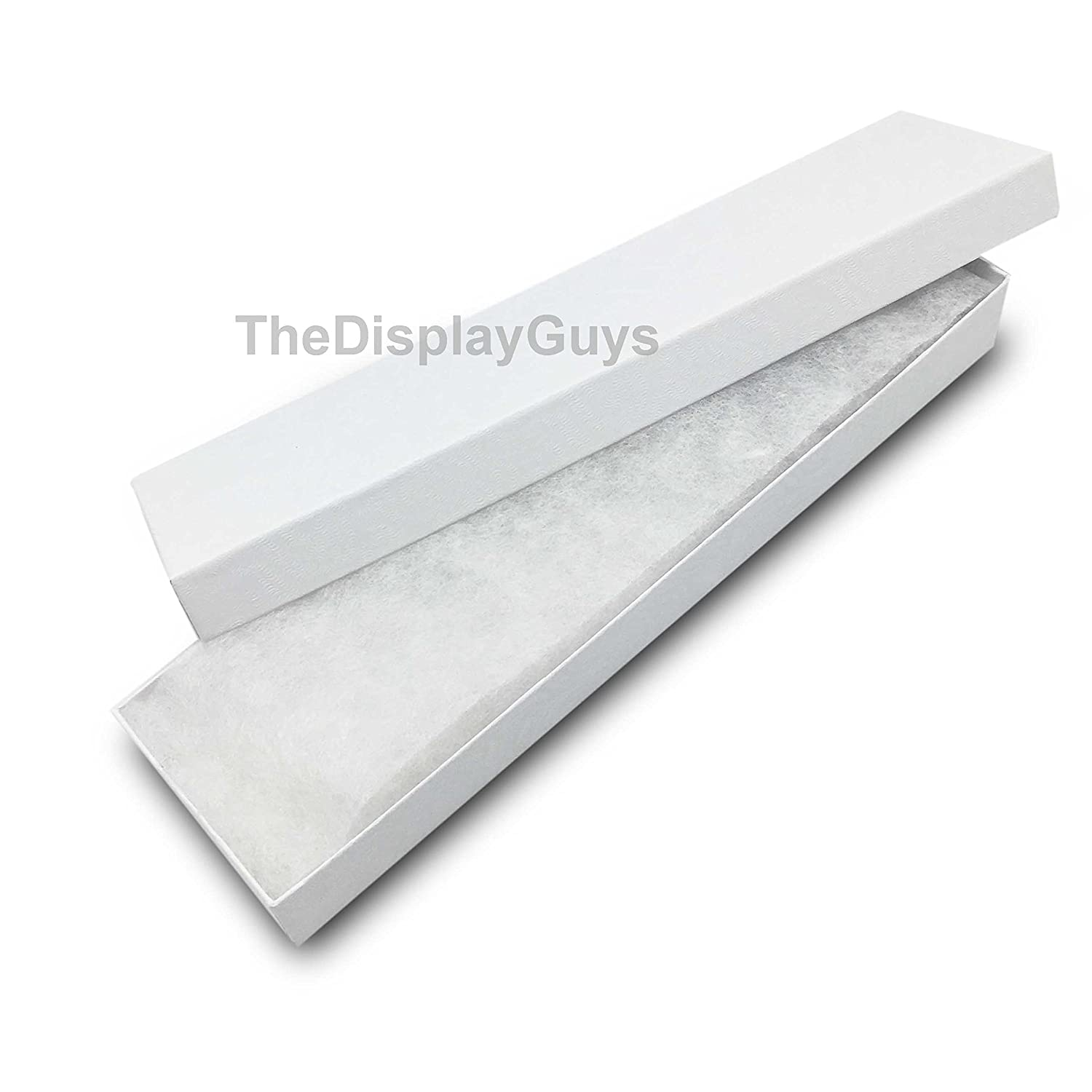 The Display Guys Pack of 25 Cotton Filled Cardboard Paper White Jewelry Box Gift Case 3 1//4x2 1//4x1 inches #32