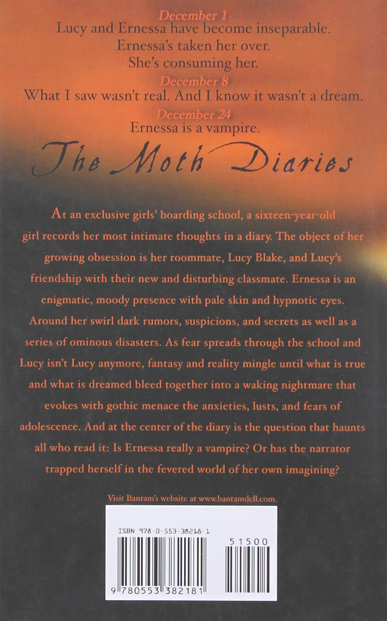 The Moth Diaries: A Novel: Rachel Klein: 9780553382181