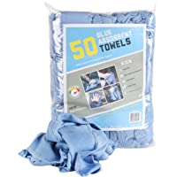 Arkwright Absorbent Huck Towels, Pack of 50 Cleaning Towel Perfect for Your Windows (14 x 24 in, Blue)