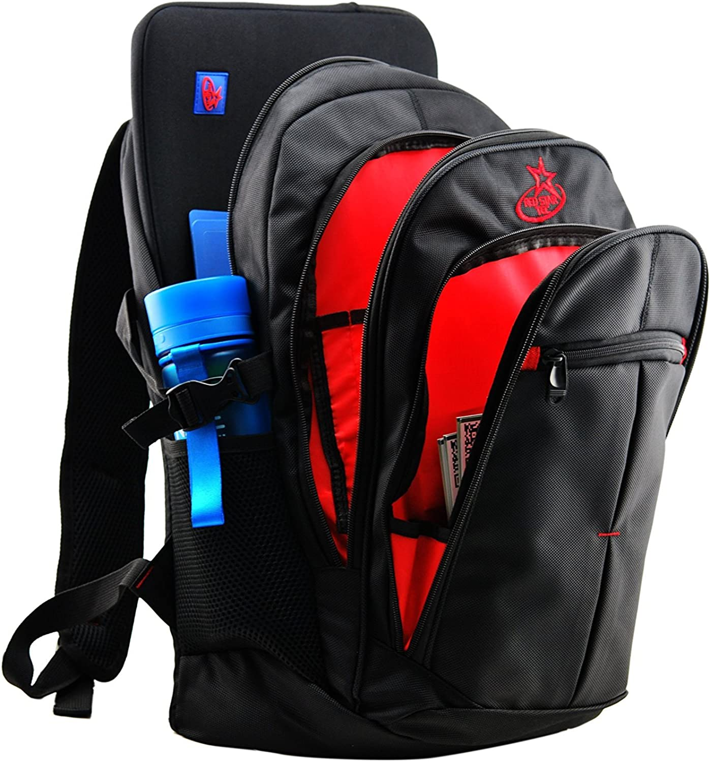 Red Star Tec 17 Inch Laptop Backpack Computer Bag - With 15.6 in Laptop Sleeve