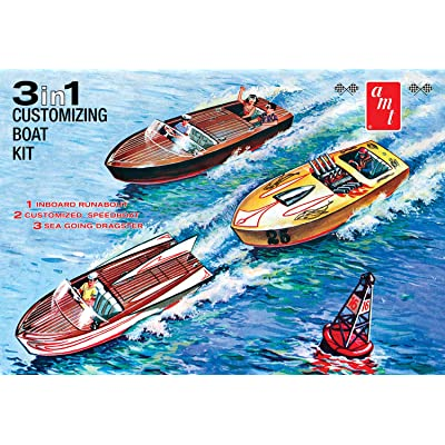 AMT 1:25 Customizing Boat '3 in 1' - AMT1056: Toys & Games