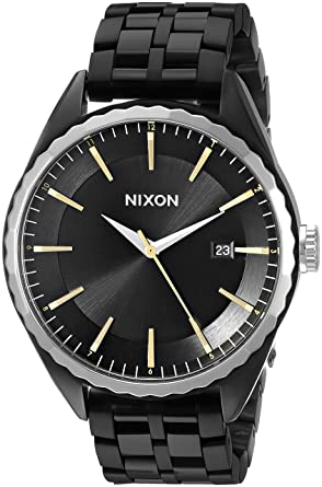 Nixon Womens A9342126 Minx Analog Display Swiss Quartz Black Watch