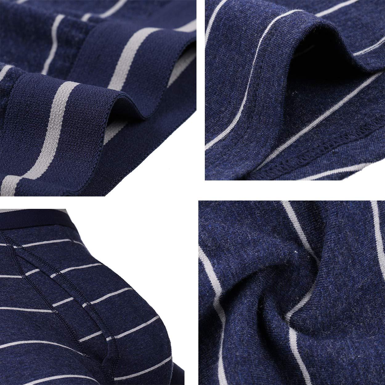 cool nik Men Boxer Briefs Comfortable Lingerie Classic Stretch Long Leg Underwear 3-4 Pack