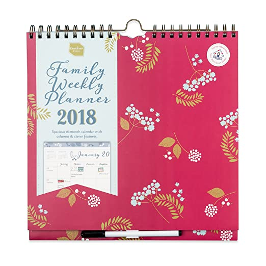 6 opinioni per 2017–2018, calendario settimanale Family from Boxclever Press (. organizzato