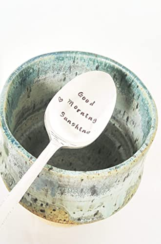 stamped spoon good morning sunshine personalized gift under 25