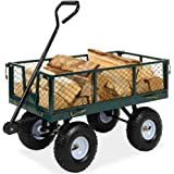 Best Choice Products Heavy-Duty Steel Garden Wagon Lawn Utility Cart w/ 400-pound Capacity, Removable Sides, Long Handle…