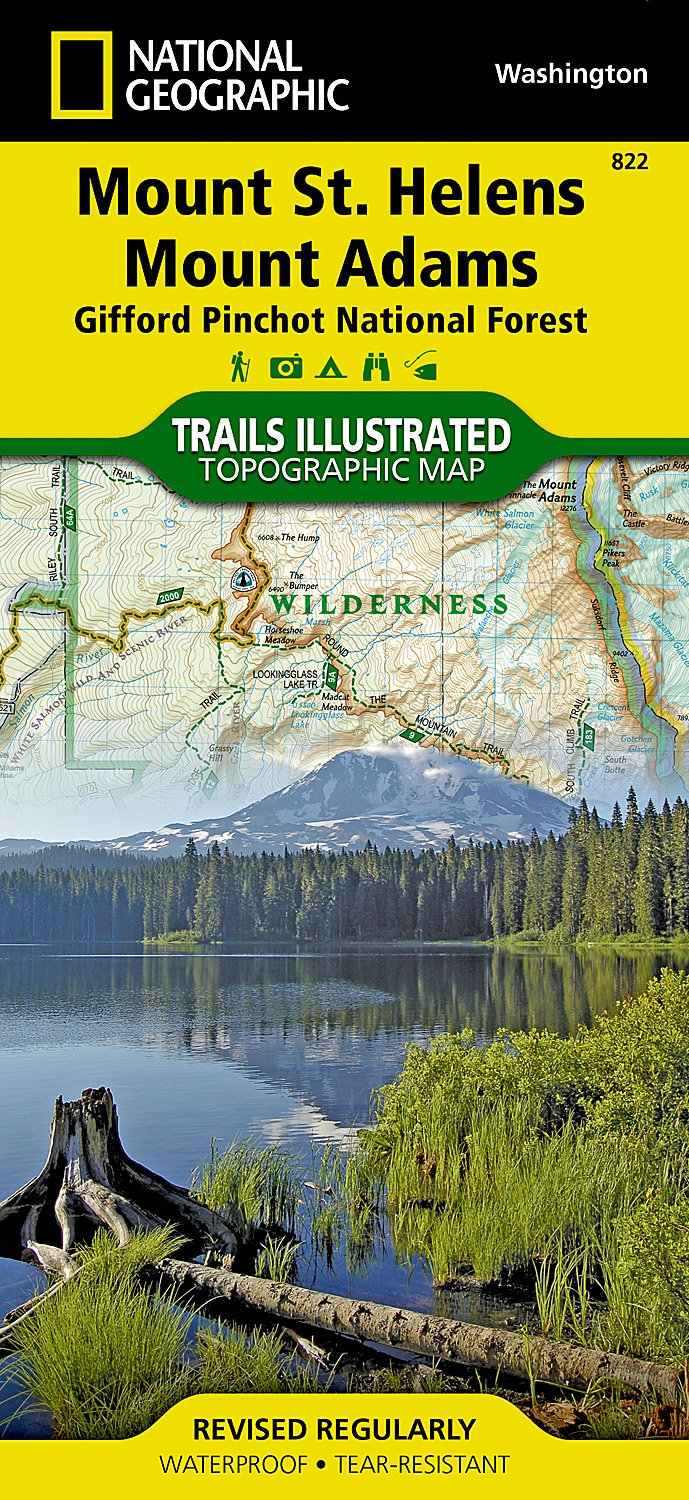 Mount St. Helens & Mount Adams: NATIONAL GEOGRAPHIC Trails Illustrated National Parks (National Geographic Trails Illustrated Map, Band 822)