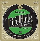 D'Addario EJ25B Pro-Arte Black Nylon Composite Flamenco Guitar Strings