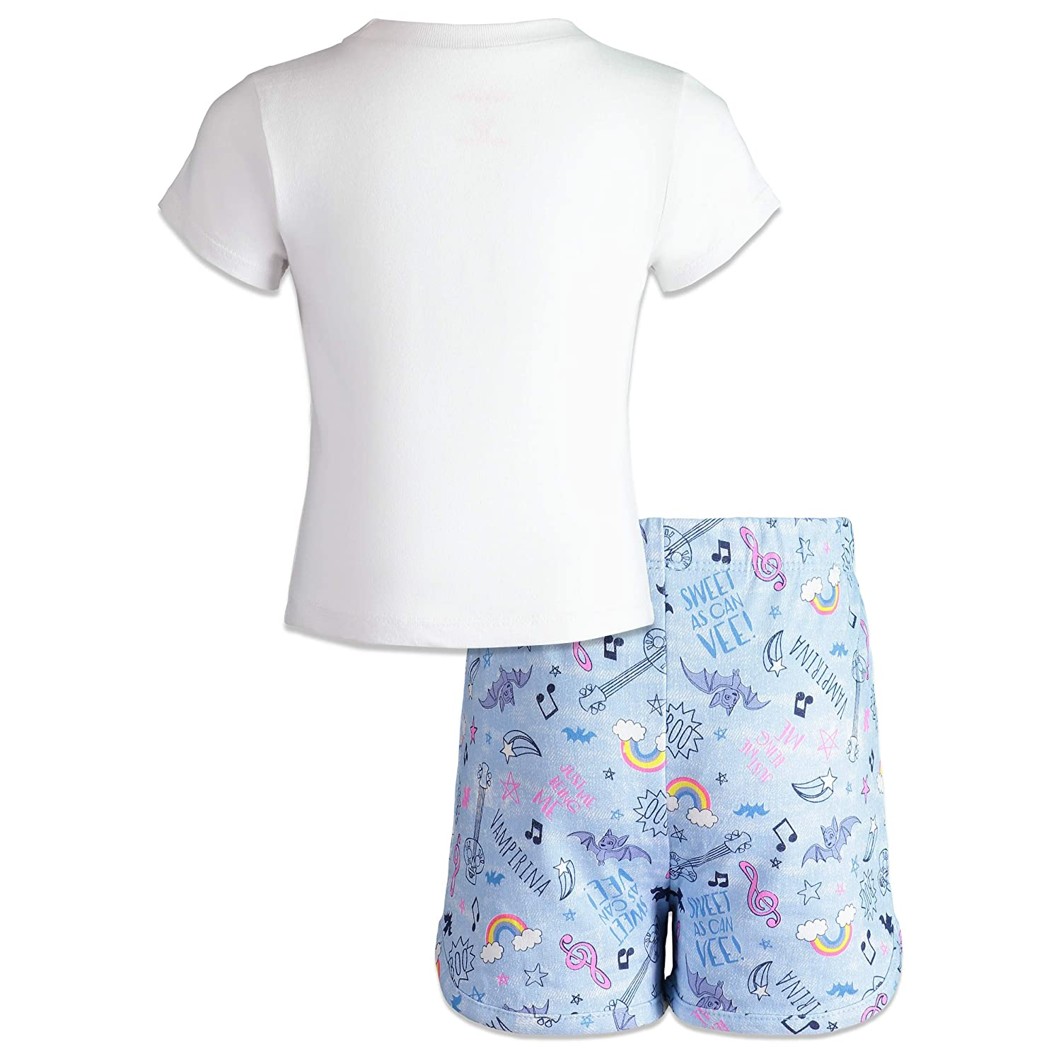 Disney Vampirina Toddler Girls T-Shirt /& French Terry Shorts Clothing Set