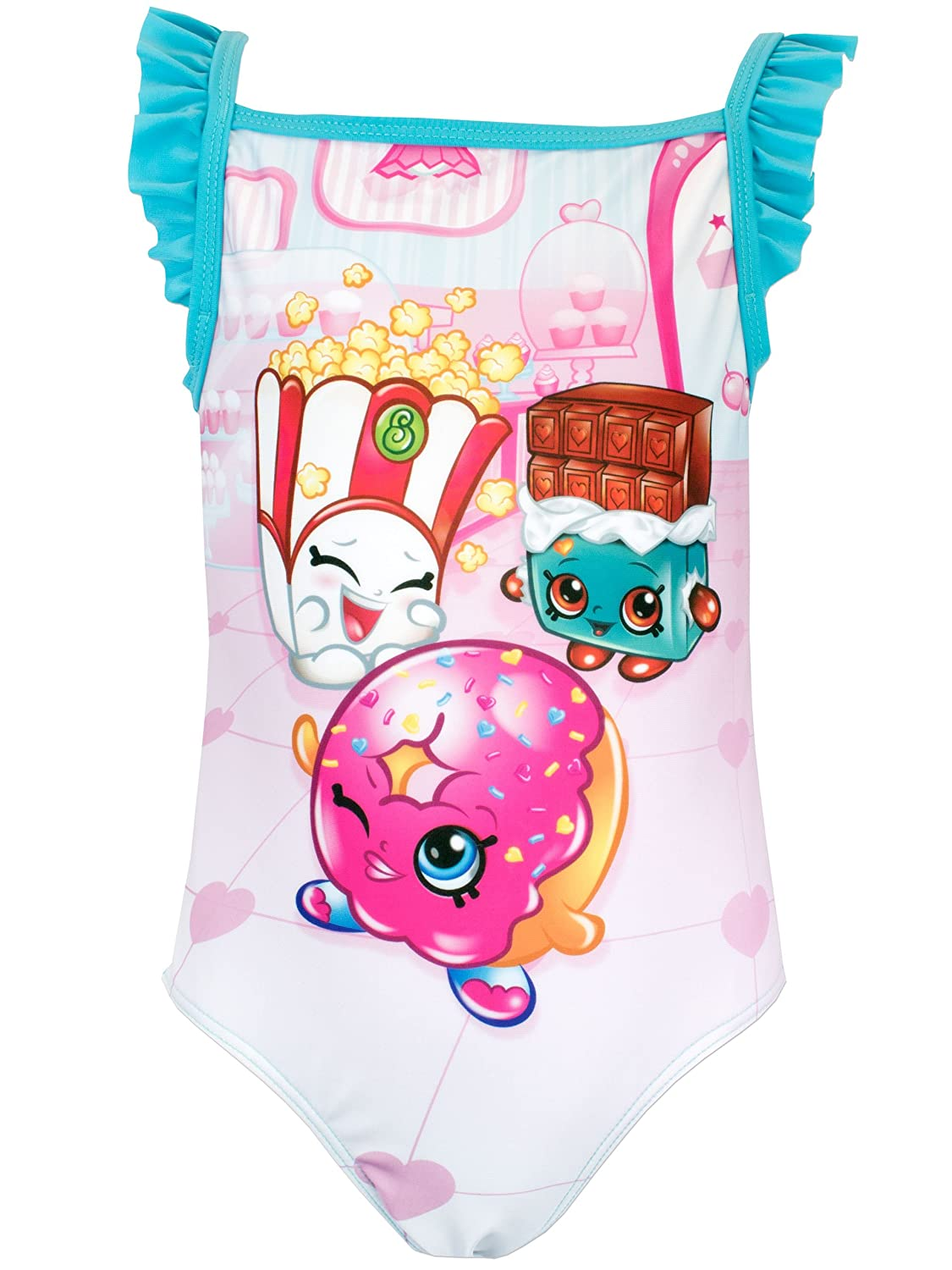 Shopkins Girls Donna Donut & Cheeky Chocolate Swimsuit Ages 4 to 12 Years