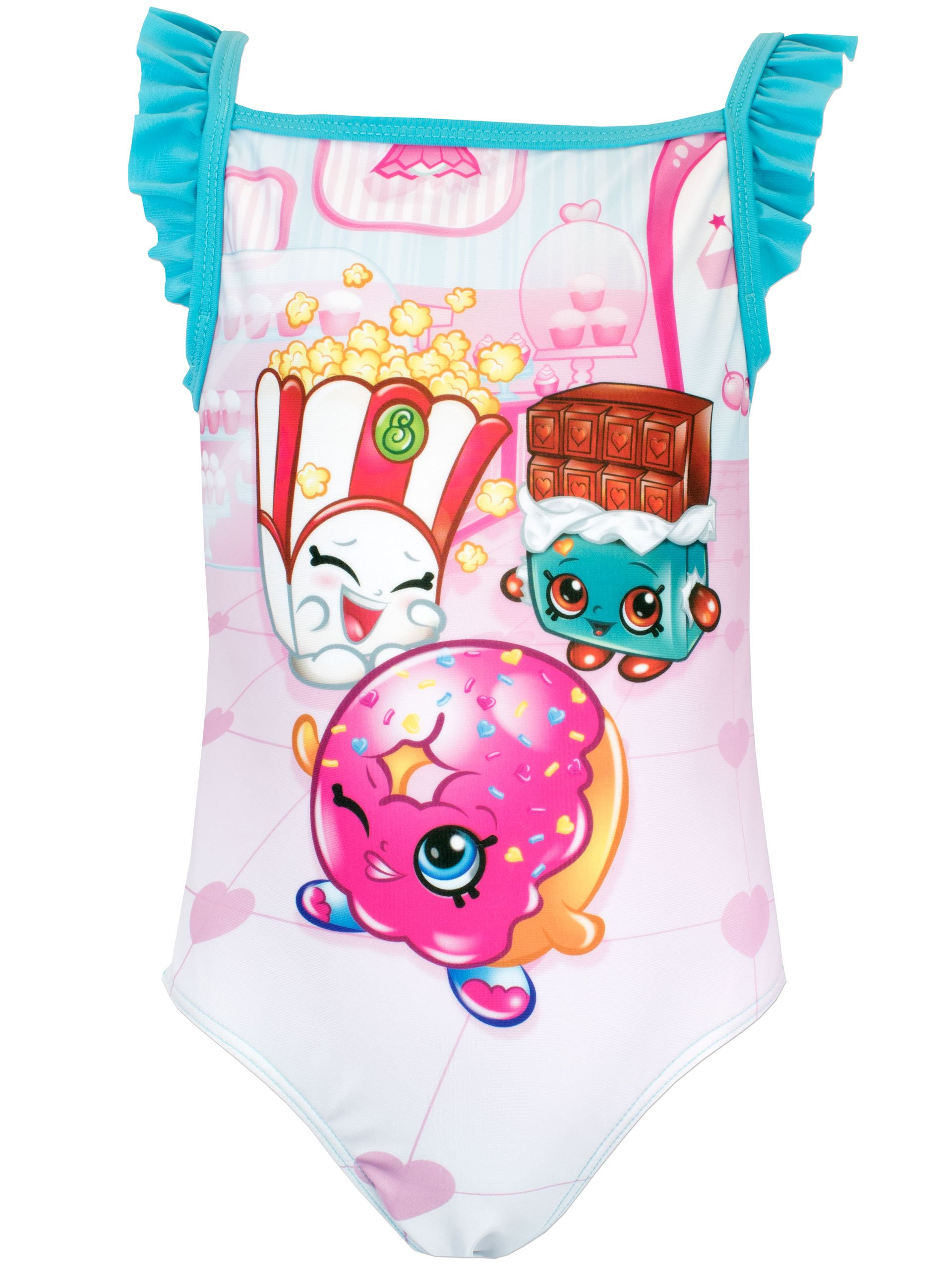 Shopkins Girls Donna Donut & Cheeky Chocolate Swimsuit Size 7 by Shopkins (Image #1)