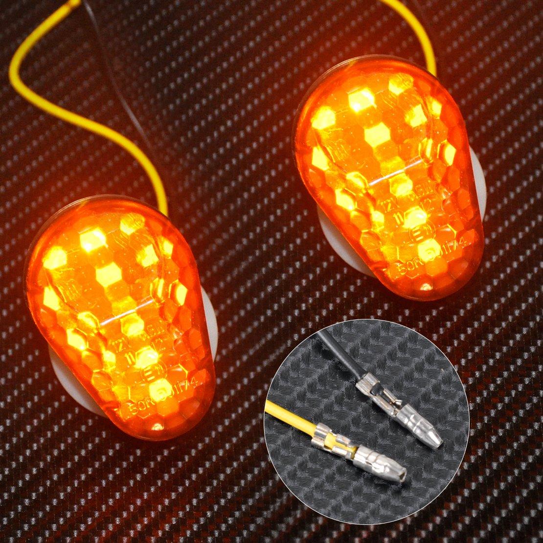 Custom Smoke LED Flush Mount Turn Signal Blinker Marker For Kawasaki
