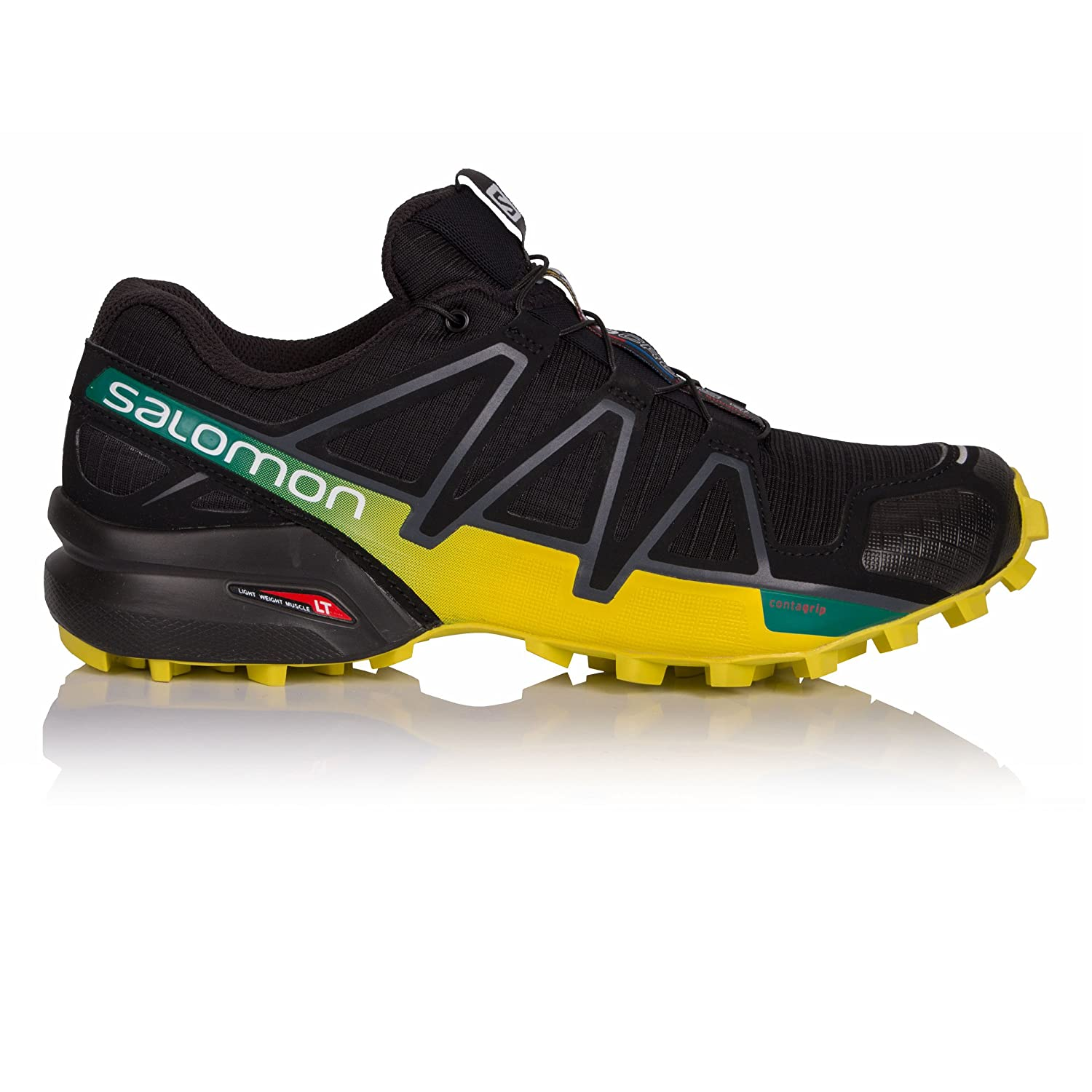 Salomon Men's Speedcross 4 Trail Runner B07DT6JNRJ 12 D(M) US|Black/Everglade/Sulphur Spring