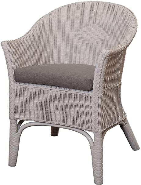 Magnificent Rattan Armchair Natural In Colour White Including Grey Seat Cushion Rattan Chair Lounge Ncnpc Chair Design For Home Ncnpcorg