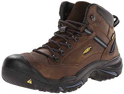 KEEN Utility Men's Braddock All-Leather Mid (Steel Toe) Waterproof Work  Boot,