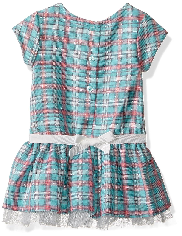 Youngland Baby Girls Plaid Dropwaist Dress and Knit Hoodie