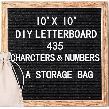 homemaxs roble marco carta Junta con 435 blanco y rojo de letras, números y símbolos