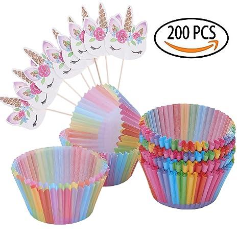 Kit De Decoración Para Cupcakes 200 Unidades Papel