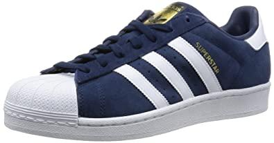 adidas Superstar, Sneakers Basses homme, Bleu (Collegiate Navy/Ftwr White/Collegiate