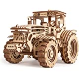 Wood Trick 3D Mechanical Model Tractor Wooden Puzzle, Assembly Constructor, Brain Teaser, Best DIY Toy, IQ Game for Teens and Adults
