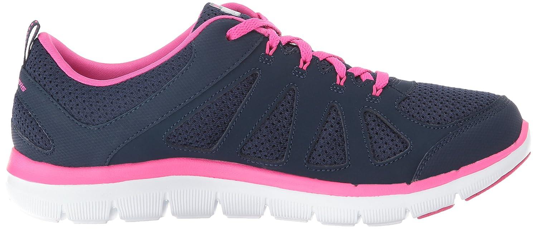 Skechers Sport Women's Flex Appeal 2.0 Simplistic Fashion Sneaker B01EOUVF32 6.5 W US Navy/Hot Pink