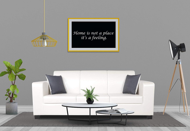 Adorn India Plush Leatherette 3 Seater Sofa (White)