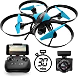 U49W Drone with Camera Live Video - Altitude Hold Headless Mode 15-Min. Long Flight Time Wi-Fi FPV Drone for Beginners – RC Camera Drones for Kids and Adults