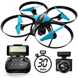 U49W Drone with Camera Live Video - Altitude Hold Headless Mode 15-Min. Flight Wi-Fi FPV Quadcopter