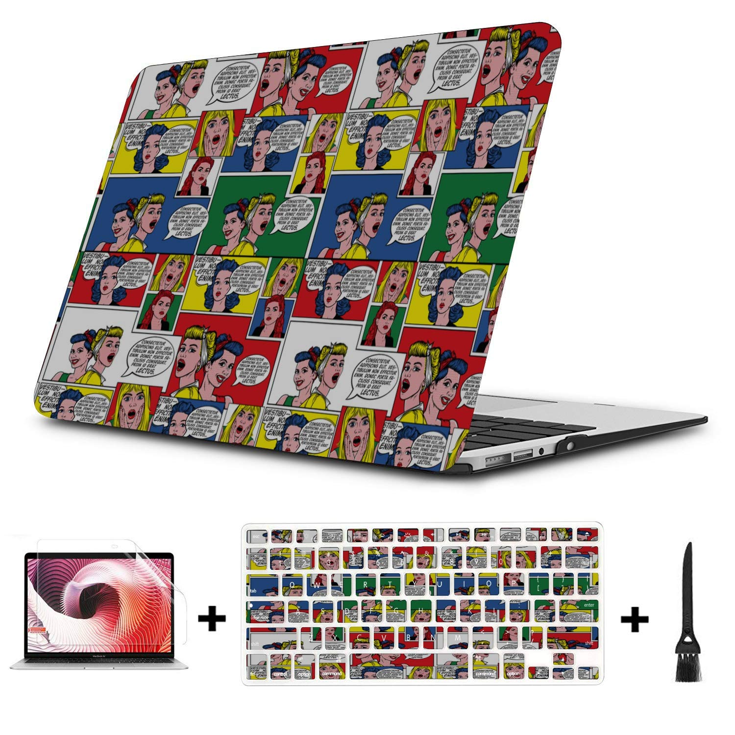 MacBook Pro Laptop Surprise Creative Happy Painting Plastic Hard Shell Compatible Mac Air 11 Pro 13 15 MacBook Case 12 Inch Protection for MacBook 2016-2019 Version