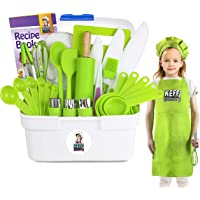 Keff Creations Complete Kids Cooking and Baking Set- Complete Kit with Real Kids Cooking Utensils and Kitchen…