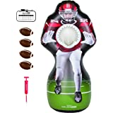 GoSports Inflataman Football Challenge - Inflatable Receiver Touchdown Toss Game, Red