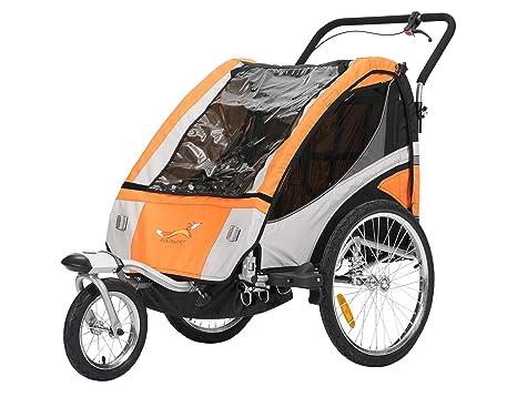 Remolque de bicicleta Fiximaster multifuncional 2 en 1/Jogger, cochecito de, corredor, carrito de mano, naranja BT504S