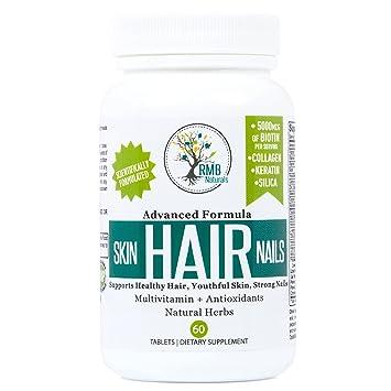 Amazon.com: Hair Skin & Nails Vitamins- Premium - Biotin, Collagen ...