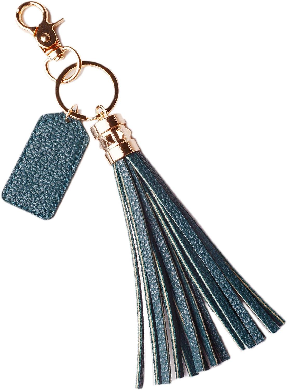 Tassel Clip On Bag Leather Tassel Bag Charm Silver Tassel Keychain Leather Tassel Keychain Tassel Charm Leather Keychain