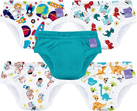 3T Flyish Baby Potty Training Pants Mixed Boys and Girls 4 Packs Toddler Potty Training Pants Cotton Training Pants 18M
