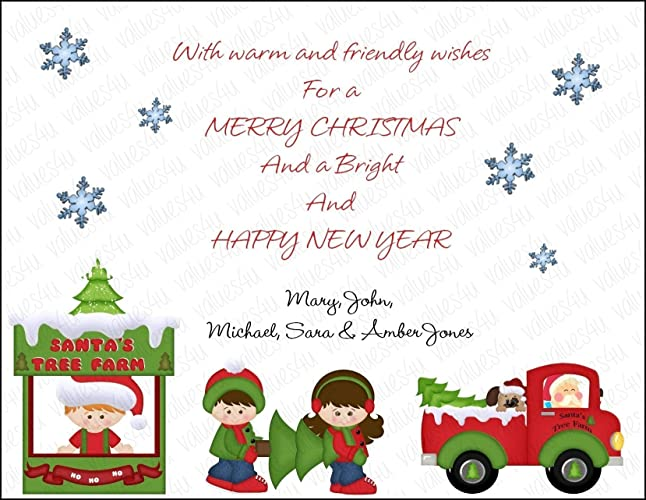 personalized christmas card 1009 digital print your own or printed packs of