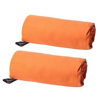 Barrageon 2 Piezas Toalla de Microfibra Secado Rápido Deportivas Absorbente con Bolsa de Almacenamiento, Toallas Ligera Compacta para Fitness, Natación, ...