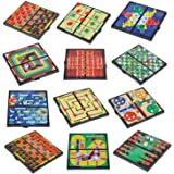 "Magnetic Board Game Set by GAMIE - Includes 12 Retro Fun Games - 5"" Compact Design - Individually Boxed - Teaches Strategy & Focus - Great for Road Trip/ Travel/ Camping - Best Gift for Kids Ages 6+"