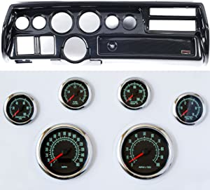 Classic Dash 105702213 Chevelle Sweep Carbon Dash Carrier Panel High Velocity 60's Muscle Gauges
