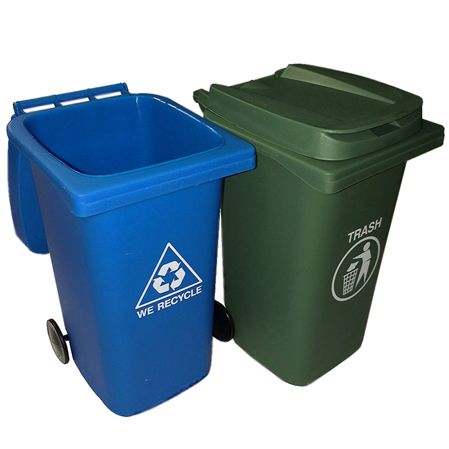 Amazon com   BigMouth Inc The Mini Curbside Trash and Recycle Can Set    Kitchen Tool Sets   Office Products. Amazon com   BigMouth Inc The Mini Curbside Trash and Recycle Can